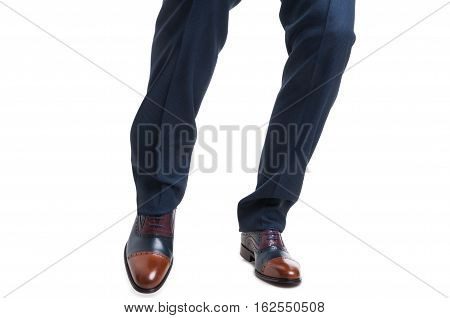 Fashion Foot Shot With Elegant Shoes And Trousers