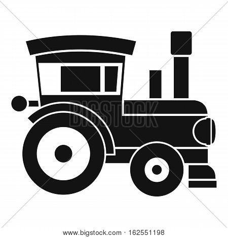 Toy train icon. Simple illustration of toy train vector icon for web