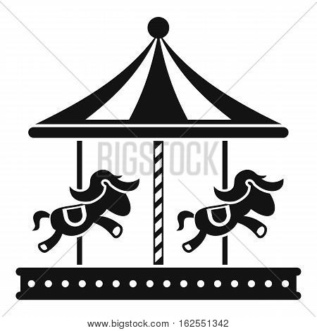 Merry go round horse ride icon. Simple illustration of merry go round horse ride vector icon for web
