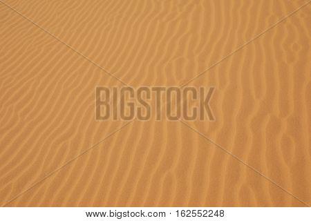 Sand pattern of beautiful sand dunes in Mui Ne Vietnam