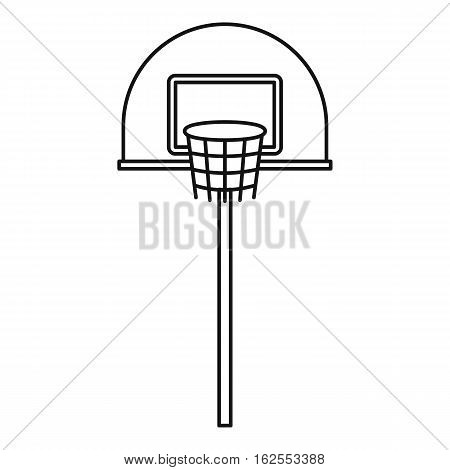 Outdoor basketball hoop icon. Outline illustration of outdoor basketball hoop vector icon for web