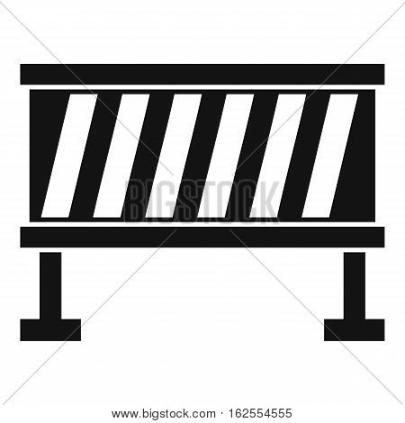 Traffic barrier icon. Simple illustration of traffic barrier bread vector icon for web