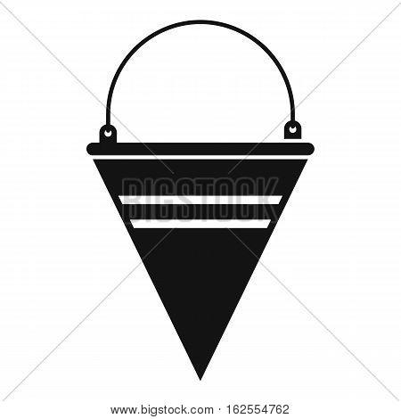 Metal fire bucket icon. Simple illustration of metal fire bucket bread vector icon for web