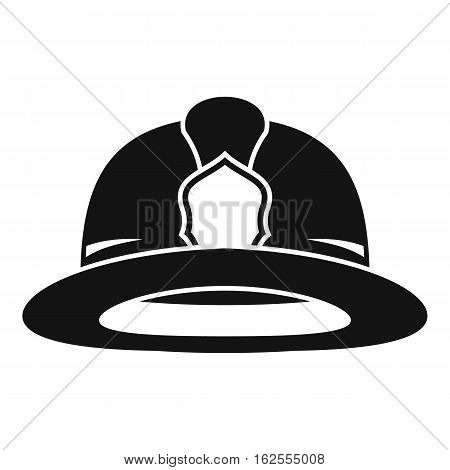 Fireman helmet icon. Simple illustration of fireman helmet vector icon for web
