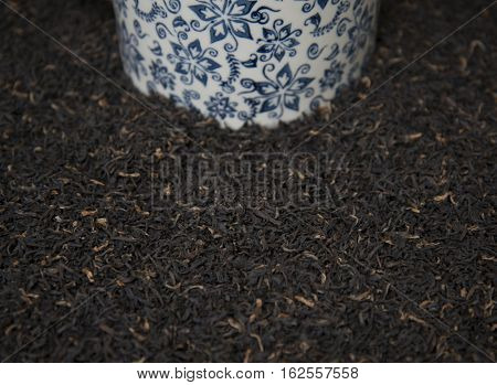 Indian Black Tea Scattered On The Table.