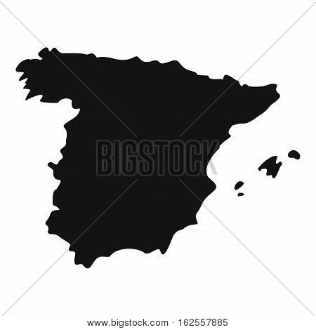 Map of Spain icon. Simple illustration of map of Spain vector icon for web