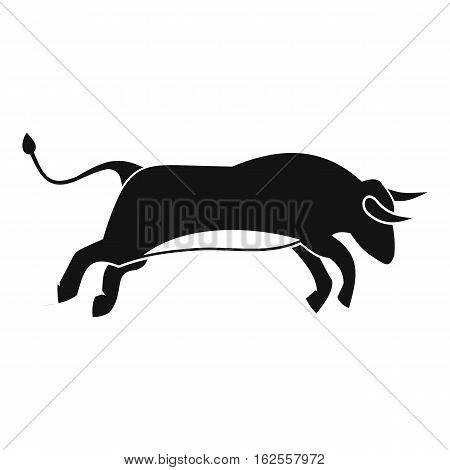 Bull icon. Simple illustration of bull vector icon for web
