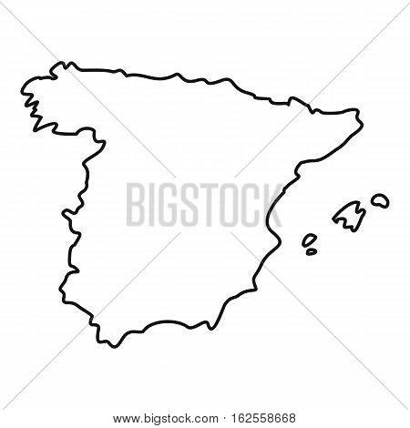 Map of Spain icon. Outline illustration of map of Spain vector icon for web