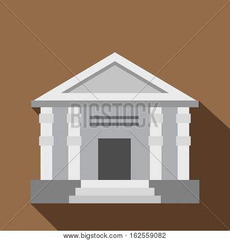 Colonnade icon. Flat illustration of colonnade vector icon for web