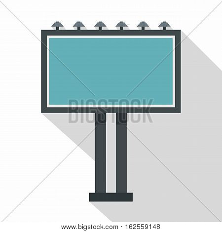 Advertising billboard icon. Flat illustration of advertising billboard vector icon for web
