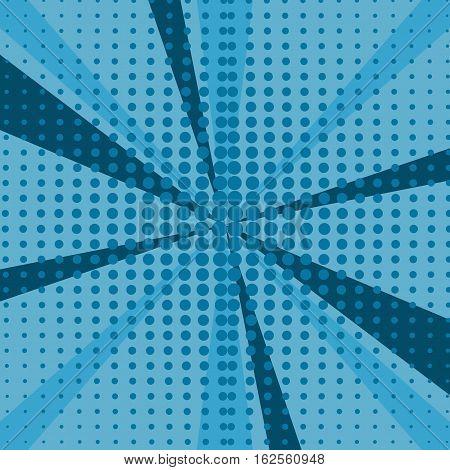 blue pop art background illustration retro desing