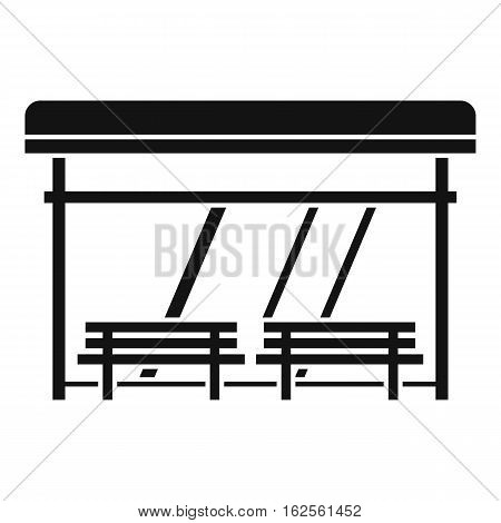 Bus stop icon. Simple illustration of bus stop vector icon for web