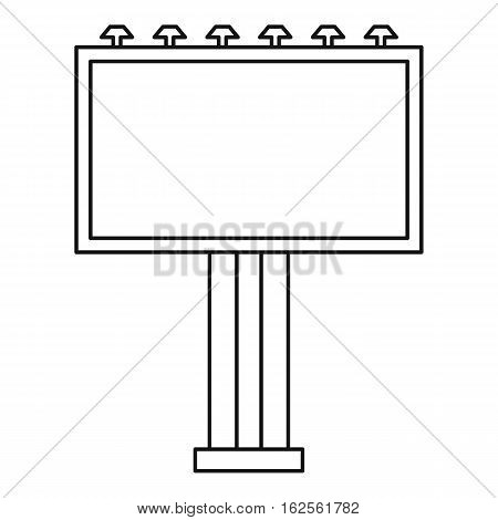 Advertising billboard icon. Outline illustration of advertising billboard vector icon for web