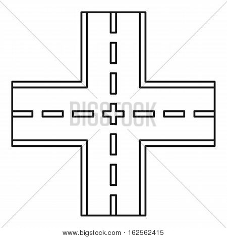 Crossing road icon. Outline illustration of crossing road vector icon for web