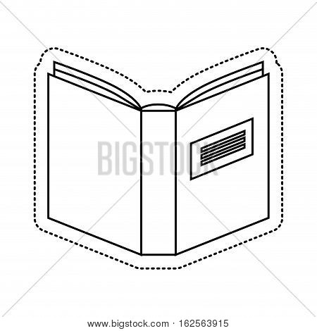 text book library isolated icon vector illustration design