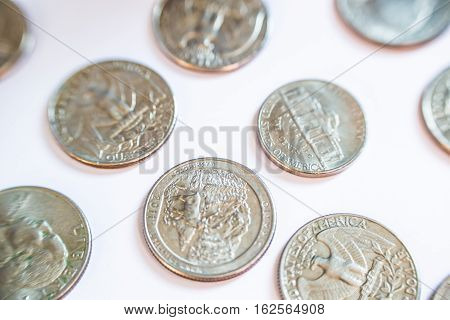 American coins. Some are old. Historical. The main currency for trade in the world.