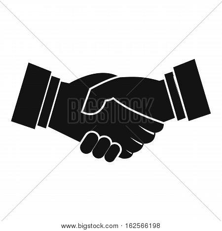 Handshake icon. Simple illustration of handshake vector icon for web