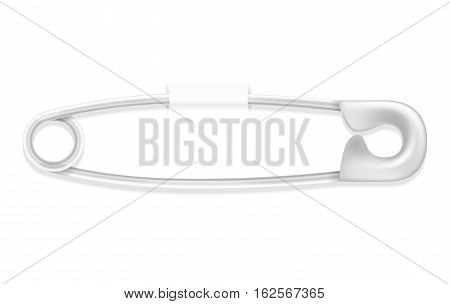 safety pin stock vector illustration isolated on white background