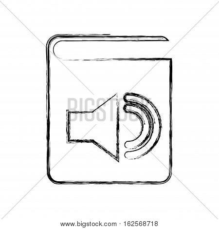 audio book electronic icon vector illustration design