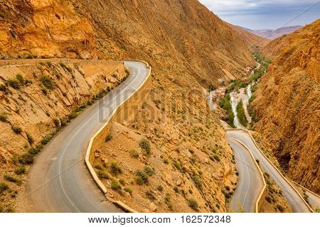 Way Above The Gorges Du Dades In Morocco.