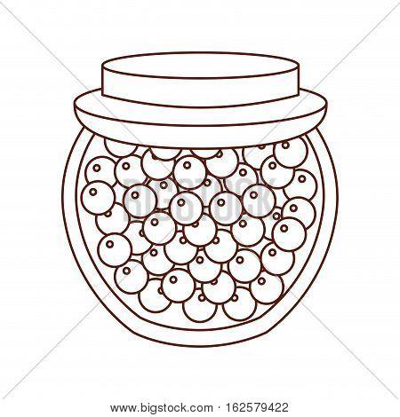 Canned fruit preserves product vector illustration design