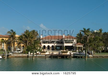 Mansion With Small Boat