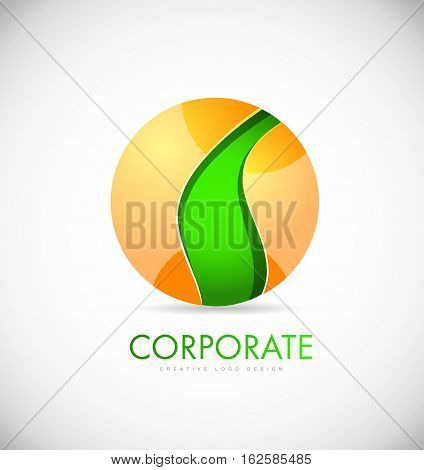 Business sphere 3d coporate vector logo icon sign design template