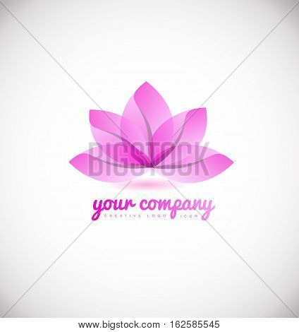 Lotus flower spa beauty meditation yoga vector logo icon sign design template
