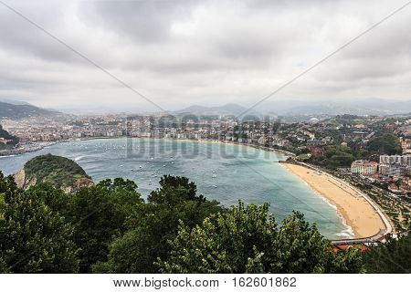 San Sebastian is the most fashionable and prestigious resort of Spain on the Bay of Biscay