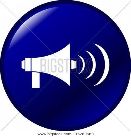 bullhorn megaphone button