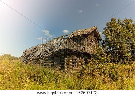 abandoned house in the deserted village, Kenozero lake, Arkhangelsk oblast, Russia