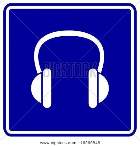 headphones sign
