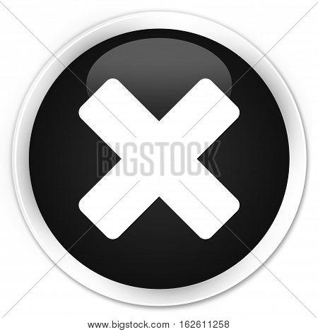 Cancel Icon Premium Black Round Button