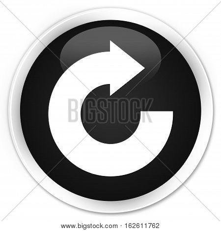 Reply Arrow Icon Premium Black Round Button