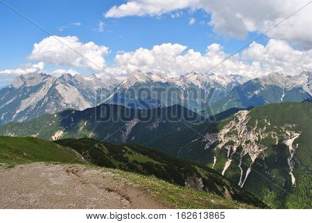 View from atop of an Austrian mountain