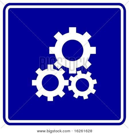 gears engaged sign