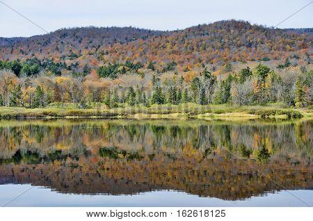 Autumn Adirondack Lake Water Reflections No. 35