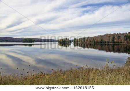 Autumn Adirondack Lake Water Reflections No. 28