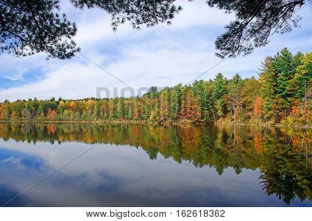 Autumn Adirondack Lake Water Reflections No. 33