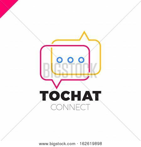 Mini Chat Logo. Bubble And Three Dots