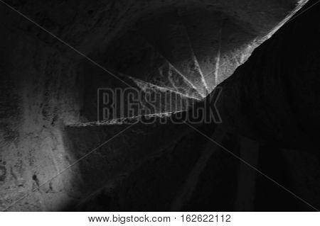 escaleras de caracol de antiguo convento mexicano