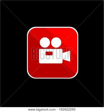 video recorder icon with vector and illustration graphic for your icons, sign, symbol, logo, and background