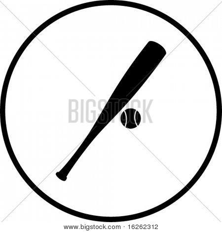 baseball bat and ball symbol