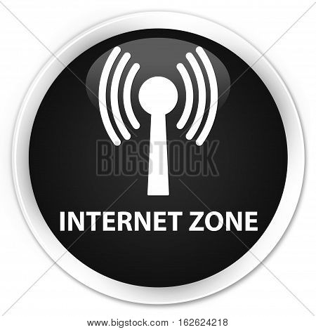 Internet Zone (wlan Network) Premium Black Round Button
