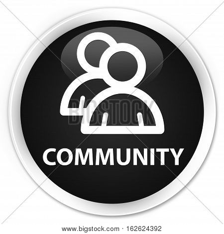 Community (group Icon) Premium Black Round Button