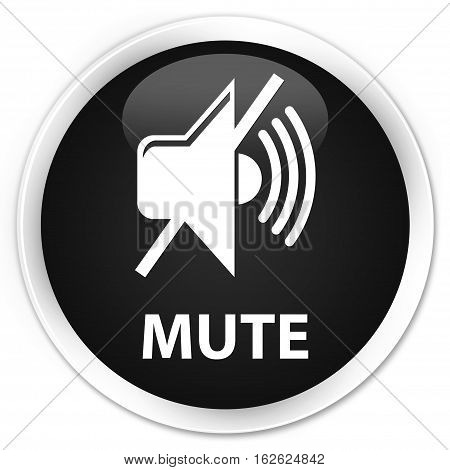 Mute Premium Black Round Button