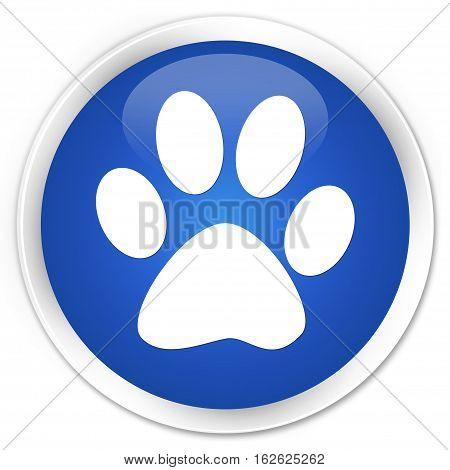 Animal Footprint Icon Premium Blue Round Button