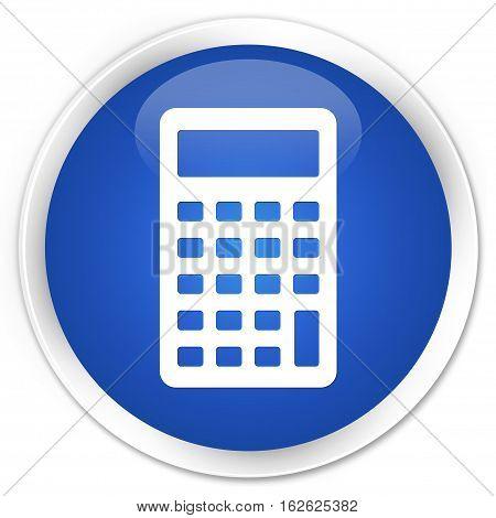 Calculator Icon Premium Blue Round Button