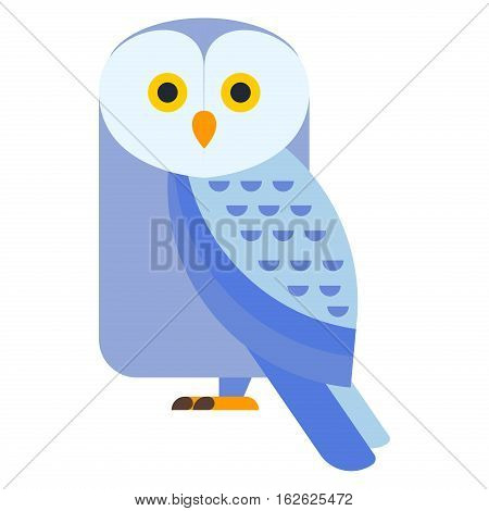 Cute modern vector bright cartoon owl expression. Animal character comic funny doodle behavior bird. Little owlet colorful emotion humor eyes wide face.
