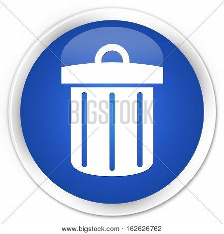 Recycle Bin Icon Premium Blue Round Button